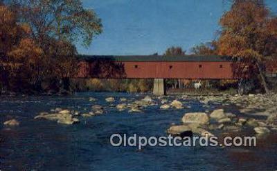 cou100325 - West Cornwall, VT USA Covered Bridge Postcard Post Card Old Vintage Antique