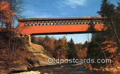 cou100338 - Chiselville Bridge, VT USA Covered Bridge Postcard Post Card Old Vintage Antique