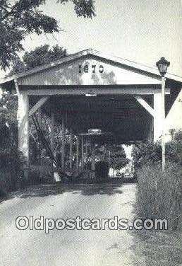 cou100423 - Germantown, OH USA Covered Bridge Postcard Post Card Old Vintage Antique