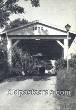 cou100424 - Germantown, OH USA Covered Bridge Postcard Post Card Old Vintage Antique