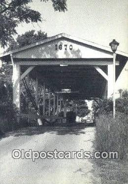 cou100425 - Germantown, OH USA Covered Bridge Postcard Post Card Old Vintage Antique
