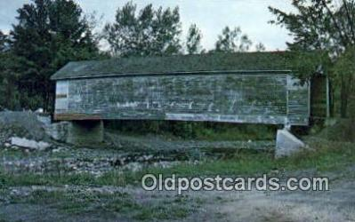cou100433 - Cowlesville, NY USA Covered Bridge Postcard Post Card Old Vintage Antique