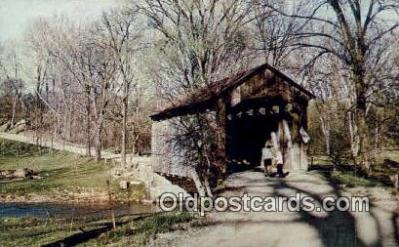 cou100463 - McKaig's, Hanoverton, OH USA Covered Bridge Postcard Post Card Old Vintage Antique