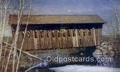 cou100527 - Andover, NH USA Covered Bridge Postcard Post Card Old Vintage Antique