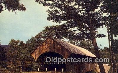 cou100531 - Sunday River, Newry, ME USA Covered Bridge Postcard Post Card Old Vintage Antique