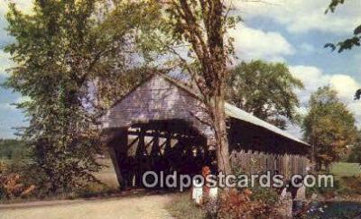 cou100536 - Porter, ME USA Covered Bridge Postcard Post Card Old Vintage Antique