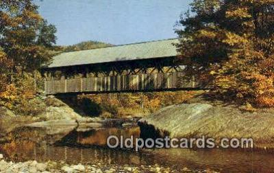 cou100537 - Sunday River, Newry, ME USA Covered Bridge Postcard Post Card Old Vintage Antique