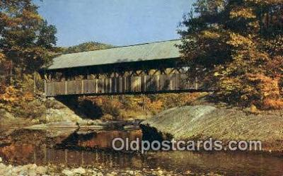 cou100538 - Artists, Newry, ME USA Covered Bridge Postcard Post Card Old Vintage Antique