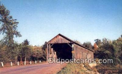cou100540 - Littleton, ME USA Covered Bridge Postcard Post Card Old Vintage Antique