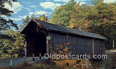cou100543 - Babbs, ME USA Covered Bridge Postcard Post Card Old Vintage Antique