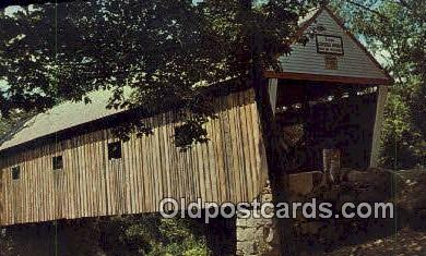 cou100545 - Lovejoy, South Andover, ME USA Covered Bridge Postcard Post Card Old Vintage Antique