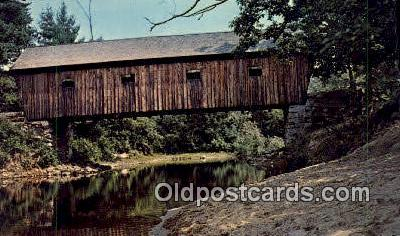 cou100547 - Lovejoy, South Andover, ME USA Covered Bridge Postcard Post Card Old Vintage Antique