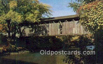 cou100573 - Ada, Ada, MI USA Covered Bridge Postcard Post Card Old Vintage Antique
