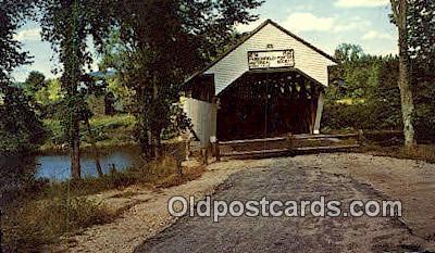 cou100578 - Porter, ME USA Covered Bridge Postcard Post Card Old Vintage Antique