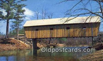 cou100580 - Lovejoy, South Andover, ME USA Covered Bridge Postcard Post Card Old Vintage Antique