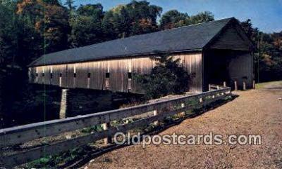 cou100585 - Morse, Bangor, ME USA Covered Bridge Postcard Post Card Old Vintage Antique