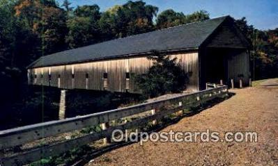cou100586 - Morse, Bangor, ME USA Covered Bridge Postcard Post Card Old Vintage Antique