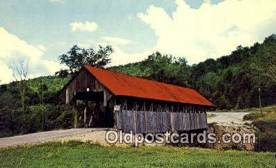 cou100587 - Bennett, Lincoln Plantation, ME USA Covered Bridge Postcard Post Card Old Vintage Antique