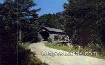 cou100590 - Babb's, Gorham, ME USA Covered Bridge Postcard Post Card Old Vintage Antique