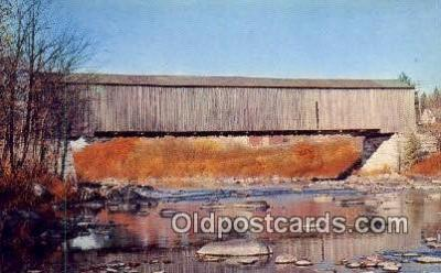 cou100592 - Lowes, Greenville, ME USA Covered Bridge Postcard Post Card Old Vintage Antique