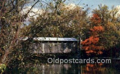 cou100595 - Fallasburg, Lowell, MI USA Covered Bridge Postcard Post Card Old Vintage Antique