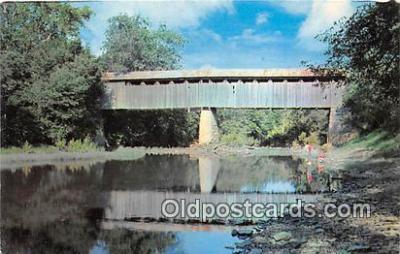 cou100724 - Covered Bridge Vintage Postcard