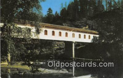cou100733 - Covered Bridge Vintage Postcard
