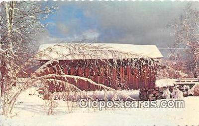 cou100751 - Covered Bridge Vintage Postcard