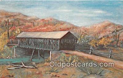 cou100752 - Covered Bridge Vintage Postcard