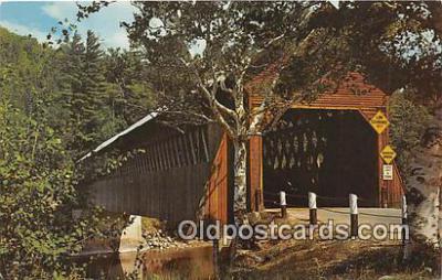 cou100779 - Covered Bridge Vintage Postcard