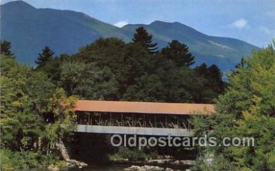 cou100787 - Covered Bridge Vintage Postcard