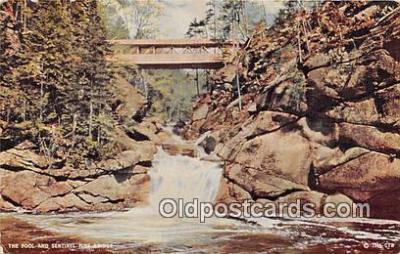 cou100799 - Covered Bridge Vintage Postcard