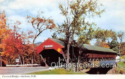 cou100807 - Covered Bridge Vintage Postcard