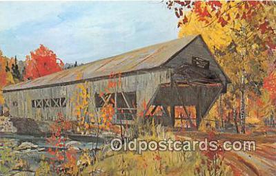 cou100817 - Covered Bridge Vintage Postcard