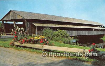 cou100826 - Covered Bridge Vintage Postcard
