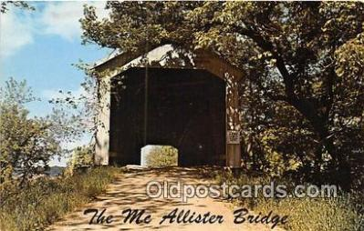 cou100842 - Covered Bridge Vintage Postcard