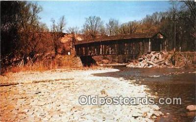 cou100865 - Covered Bridge Vintage Postcard