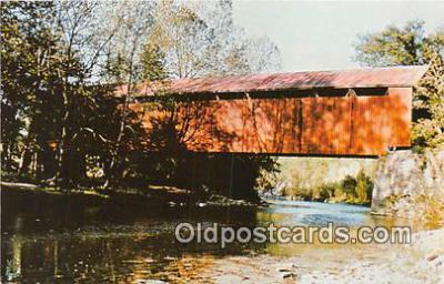 cou100891 - Covered Bridge Vintage Postcard