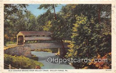 cou100897 - Covered Bridge Vintage Postcard