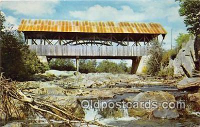 cou100913 - Covered Bridge Vintage Postcard