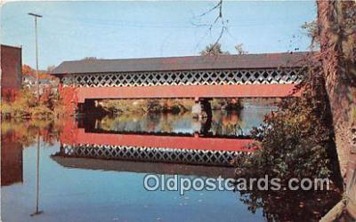 cou100920 - Covered Bridge Vintage Postcard