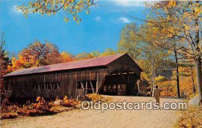 cou100926 - Covered Bridge Vintage Postcard