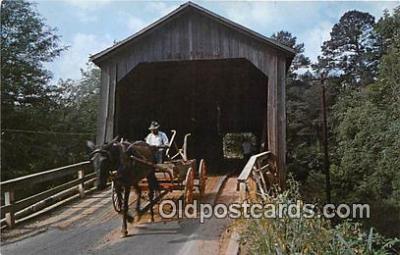 cou100956 - Covered Bridge Vintage Postcard