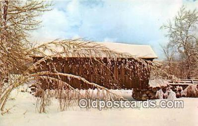 cou100963 - Covered Bridge Vintage Postcard