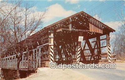cou100996 - Covered Bridge Vintage Postcard