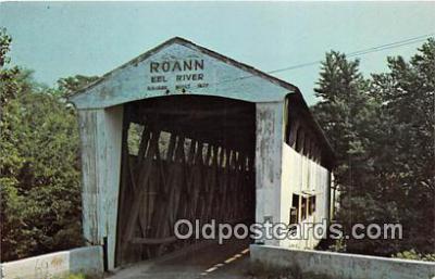 cou101005 - Covered Bridge Vintage Postcard