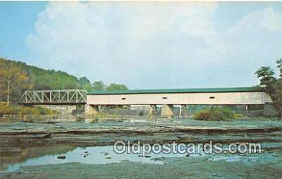 cou101017 - Covered Bridge Vintage Postcard