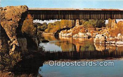 cou101044 - Covered Bridge Vintage Postcard