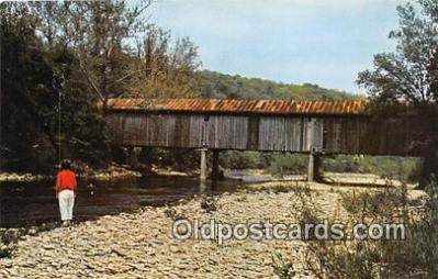 cou101047 - Covered Bridge Vintage Postcard