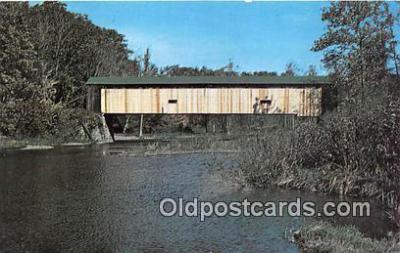 cou101063 - Covered Bridge Vintage Postcard